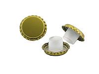 Crown cap D 29 with bidule - gold
