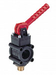 Manually controlled boom section valve