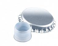 Crown cap D 29 with bidule - silver