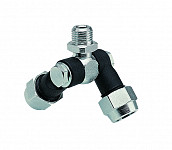 Double swivel nozzle holder - outer thread