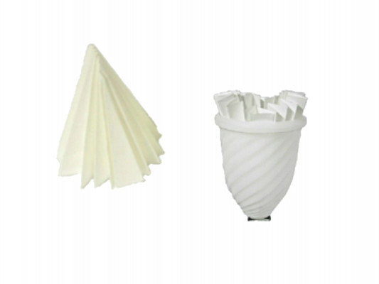Conical paper filter