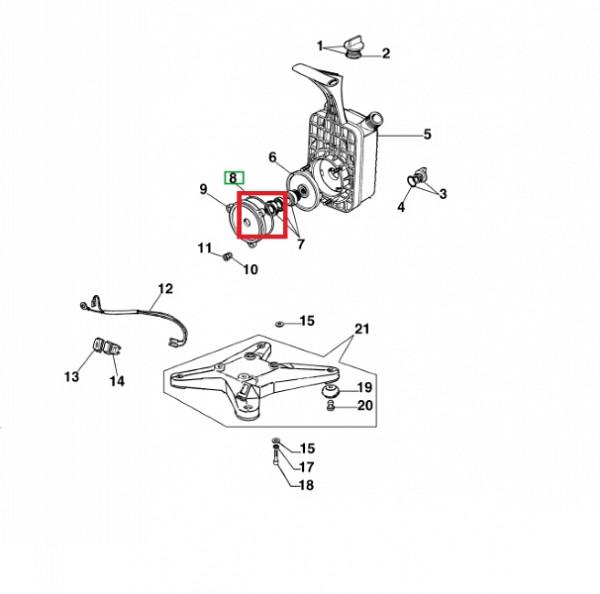 O-ring for motor pump