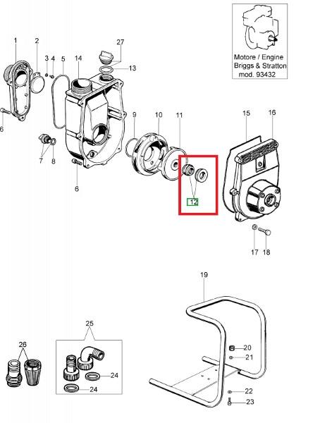 Axle seal  16x32x13