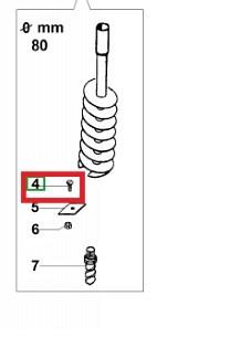 Drill screw D 100