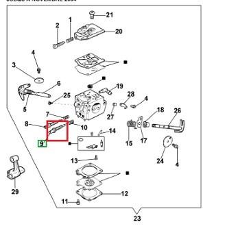 Carburettor screw Walbro